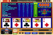Free Aces and Faces Video Poker Game